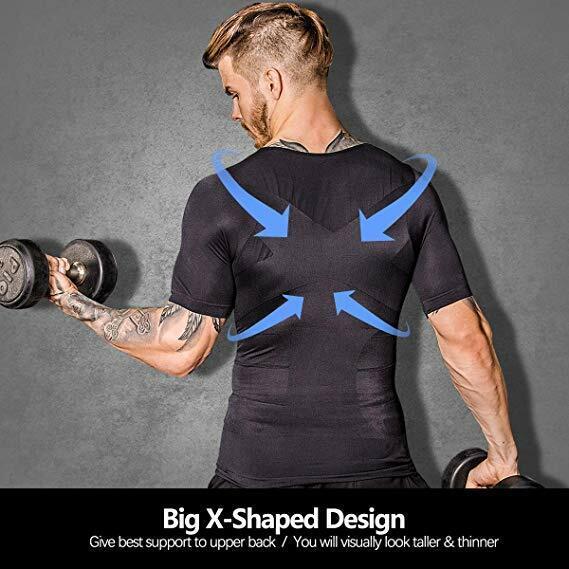 Men's Ultra Lift Body Slimming Seamless Body Shaper Vest Abdomen T-Shirt Cami 6