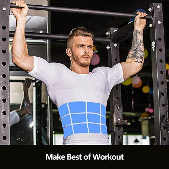 Men's Ultra Lift Body Slimming Seamless Body Shaper Vest Abdomen T-Shirt Cami 8