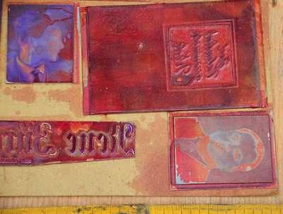 Konvolut Klischees Druckplatten Druckerei Drucker Handsatz letterpress plates 4