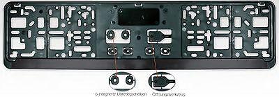 2 Kennzeichenhalter Nummernschildhalter Hochglanz Chrome für Chevrolet KHP/_2