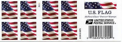 20 Forever Stamps US Postage American Old Glory Flag USPS Booklet Stars  Stripes 2