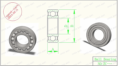 5pcs MR105 Miniature Bearings ball Mini Bearing (5mm*10mm*4mm)