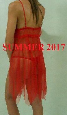 Sexy Vestaglia  Lunga Colore Rosso + 2 Perizoma Molto Sexy  101 3
