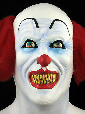 3 of 5 pennywise or scary clown mask halloween horror haunt latex mask prop new