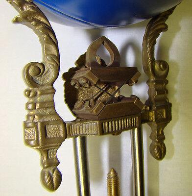 "22""H Cobalt Blue 4"" Ball 8 Day Swinger Movement Arm for Ansonia Swinging Clock 5"