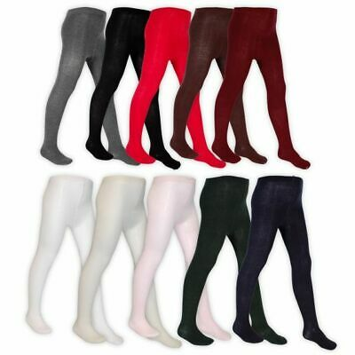 Girls Cotton Rich Nifty Plain School Tights  Ages 0 - 11 Years Assorted Colours 2