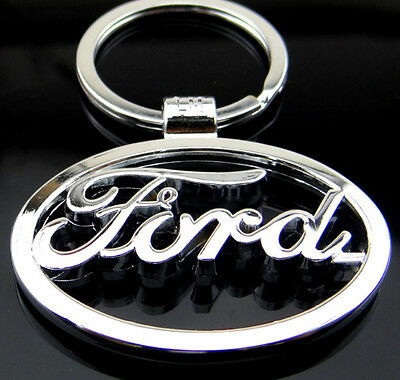 Car Logos 3D chromed Titanium Key Chain Car Keychain Ring Keyfob Metal Keyrings 10