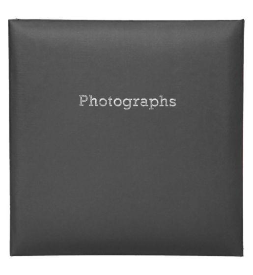 6'' x 4'' Memo Slipin Photo Album Holds 140 Photos Photography Storage - BLACK 2