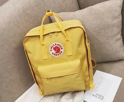 Fjallraven Kanken Canvas Backpack Sport Travel Rucksack Bag Yellow 7L/16L/20L 3