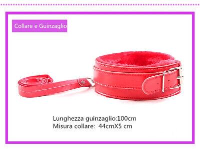 Set Kit 8 Pezzi Slave Costrittivo Slave Manette Morso Frusta Mascherina Pinze 7