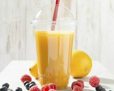 Smoothie Milkshake Plastic recyclable Cups with Dome Lids - Sweet Pots 6