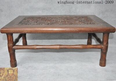 chinese Huanghuali wood Carving Dragon Classical furniture coffee table Tea desk 6