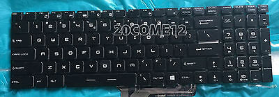 For MSI GS70 6QD Stealth GS70 6QE Stealth Pro keyboard US Color Backlit Crystal