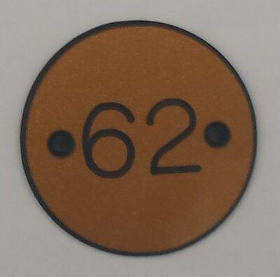 Engraved Table Numbers Black or Gold Disc Colour Suitable For Indoors/Outdoors 2