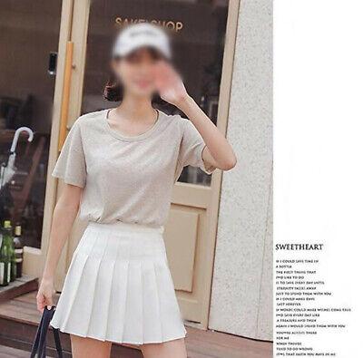 Girls School Uniform Skater Skirt Kids High Waist Pleated Skirt Tennis for Women 5