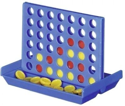 Mini Connect 4 Four Line Up In A Row Line Board Game Family Indoor 2 Player NEW 2
