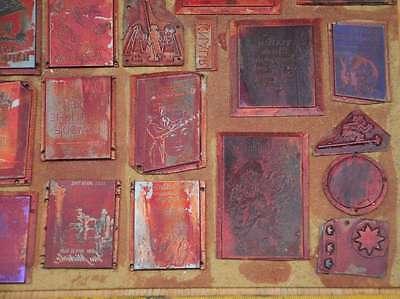 Konvolut Klischees Druckplatten Druckerei Drucken letterpress printer's plates 4