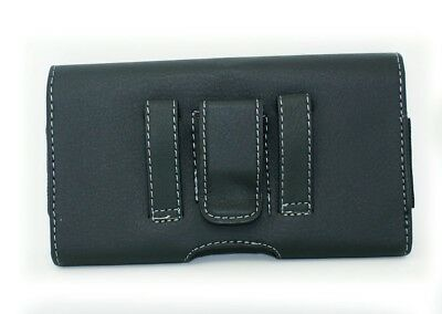 Black Case Holster Pouch with Belt Clip/Loop for Virgin Mobile ANS UL40