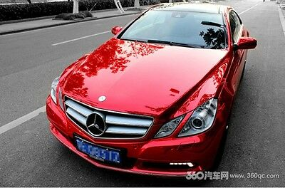 Car Flat Glossy Mirror Chrome Vinyl Wrap Sticker Sheet Film Red HD Style