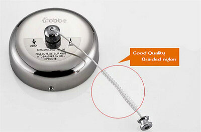 2.5m Stainless Steel Retractable Indoor Clothes Line For Home Hotel ILK
