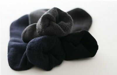 7Prs 90% BAMBOO SOCKS Men's Heavy Duty Premium Thick Work BLACK Bulk New 6