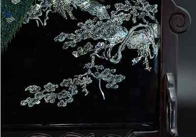 Chinese Old Screen Mother of Pearl 硯屏 /  KENBYO / W 34.2× H 30.3 [ cm ] 9