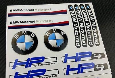 bmw hp4 motorrad aufkleber blatt 28 sticker set decal. Black Bedroom Furniture Sets. Home Design Ideas