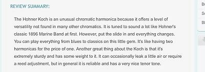 Koch Harmonica In Original Box 6