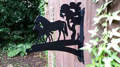 Mare and Foal Hanging Basket Bracket