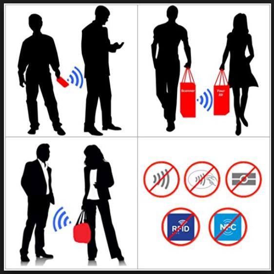 RFID Blocking ANTI THEFT Aluminum Safety Sleeve Credit Card Protector