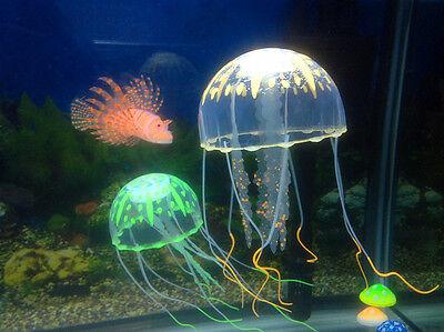 Decor Jellyfish Aquarium Decoration Artificial Glowing Effect Fish Tank Ornament 10