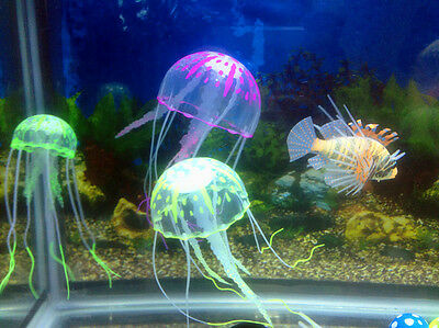 Decor Jellyfish Aquarium Decoration Artificial Glowing Effect Fish Tank Ornament 9