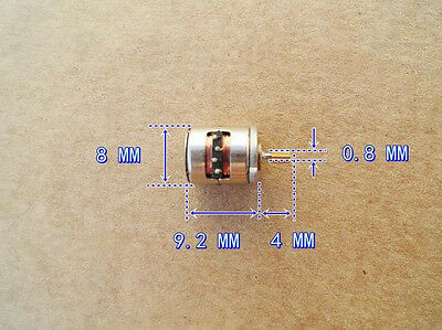 10pcs miniature 8x9.5mm Two-phase four-wire stepper motor with copper gear 2