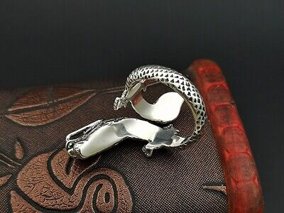 925 Sterling Silver Men's dragon punk  Retro ring rings Jewelry S3406 3