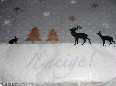 2 Von 4 Avantgarde Lunch Servietten Winter Schnee Hirsch Reh Weihnacht  Sterne Feier Fest