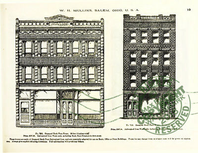 Mullins 1897 Architectural Metal Work CATALOG store fronts ornament grill vanes 8