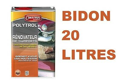 Polytrol 20 L Ravive Carrosserie Plastique Peinture Alu Chrome Gelcoat Marbre