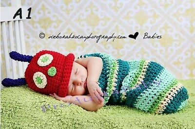 New Baby Boy Girl Crochet Beanie Costume Outfit Set Hat Photography Props 0-3-6M