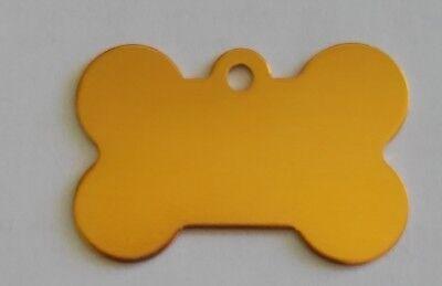 Hundemarke mit Gravur, Knochen mit Gravur 38 x 25 mm 6