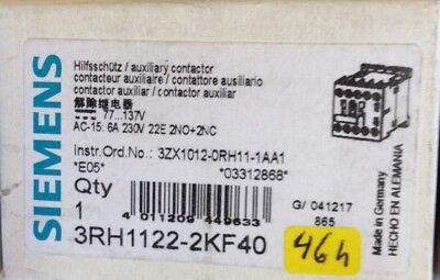2S//2Ö  NEU//OVP DC 77...137V Siemens Schütz 3RH1122-2KF40