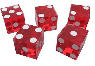Perfect 19Mm Precision Casino Dice / Craps Stunning - 5 Colours +Quantity Choice
