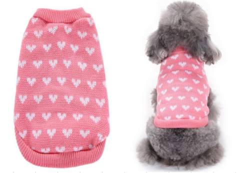 Pet Cat Dog Warm Jumper knitted Sweater Clothes Knitwear Costume Coat Apparel UK 2