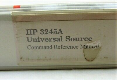 HP 3245A Universal Source Command Reference Manual 3115E-2