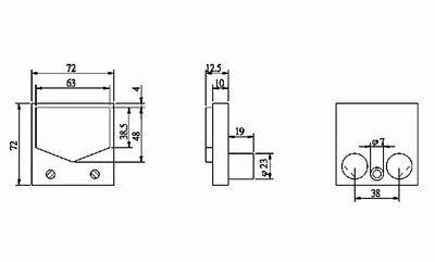 SZ-70 Panel Dual SWR Forwad Reflected VU Meter 100uA Level Amp Flash Star