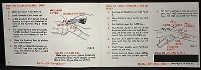 Vintage Crosman 73 Lever Action Repeater Rifle NOS Owner's Manual /& Ad Sheet