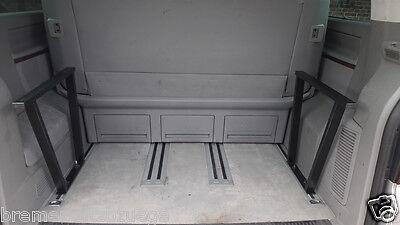 53cm Schwarz 115 VW T5 /& T6 Multivan Multiflexboard Bettverlängerung Ablage H