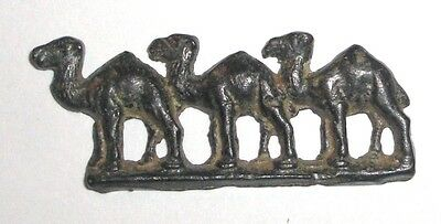 Ancient Roman Empire, 1st - 3rd c. AD. Bronze zoomorphic decoration of camels 2 • CAD $283.50