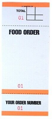 100 FOOD RESTAURANT ORDER PAD 5 Colours 100 SHEET PAD BF84 Tear Off slip BY SMCO 2