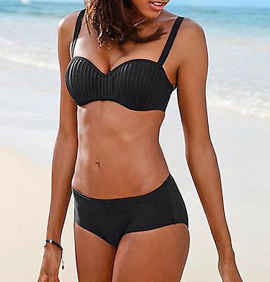 2 tlg b gel bikini neu gr 42 80d schwarz plissee top mit softcups 80 d slip eur 13 50. Black Bedroom Furniture Sets. Home Design Ideas