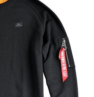 Alpha Industries Herren Sweater Blood Chit Print Rundhals Pullover S bis 3XL NEU